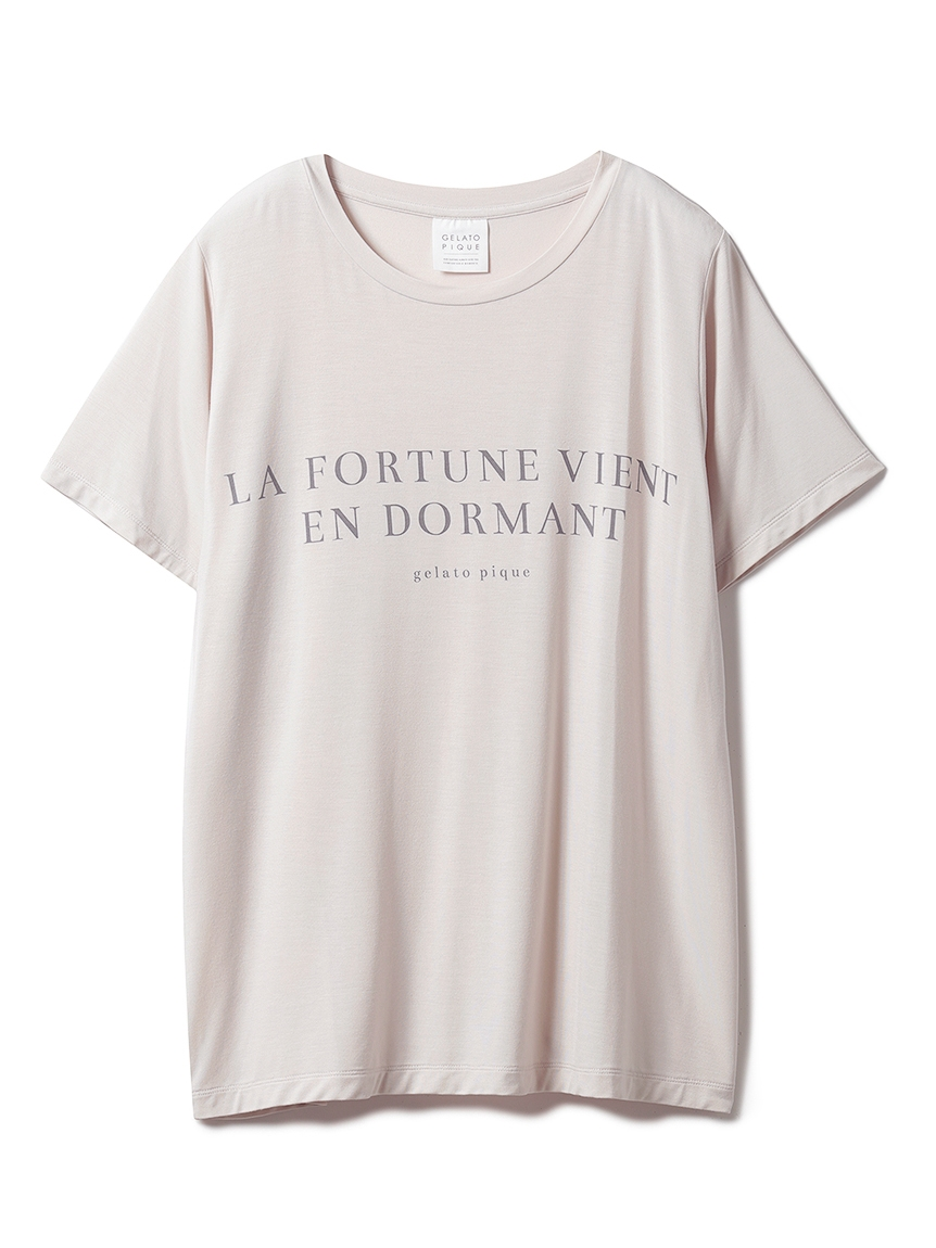 レーヨンロゴTシャツ(BEG-F)