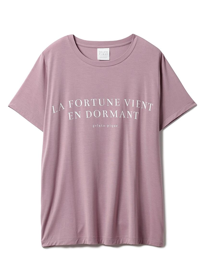 レーヨンロゴTシャツ(PNK-F)