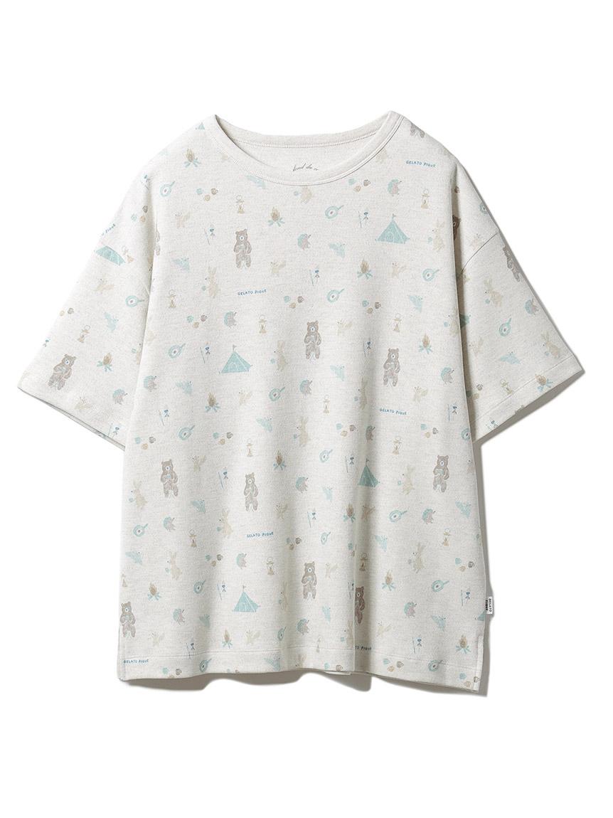 アニマルキャンプモチーフTシャツ(GRY-F)