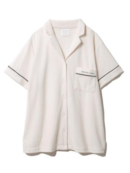 パイルリブ半袖シャツ