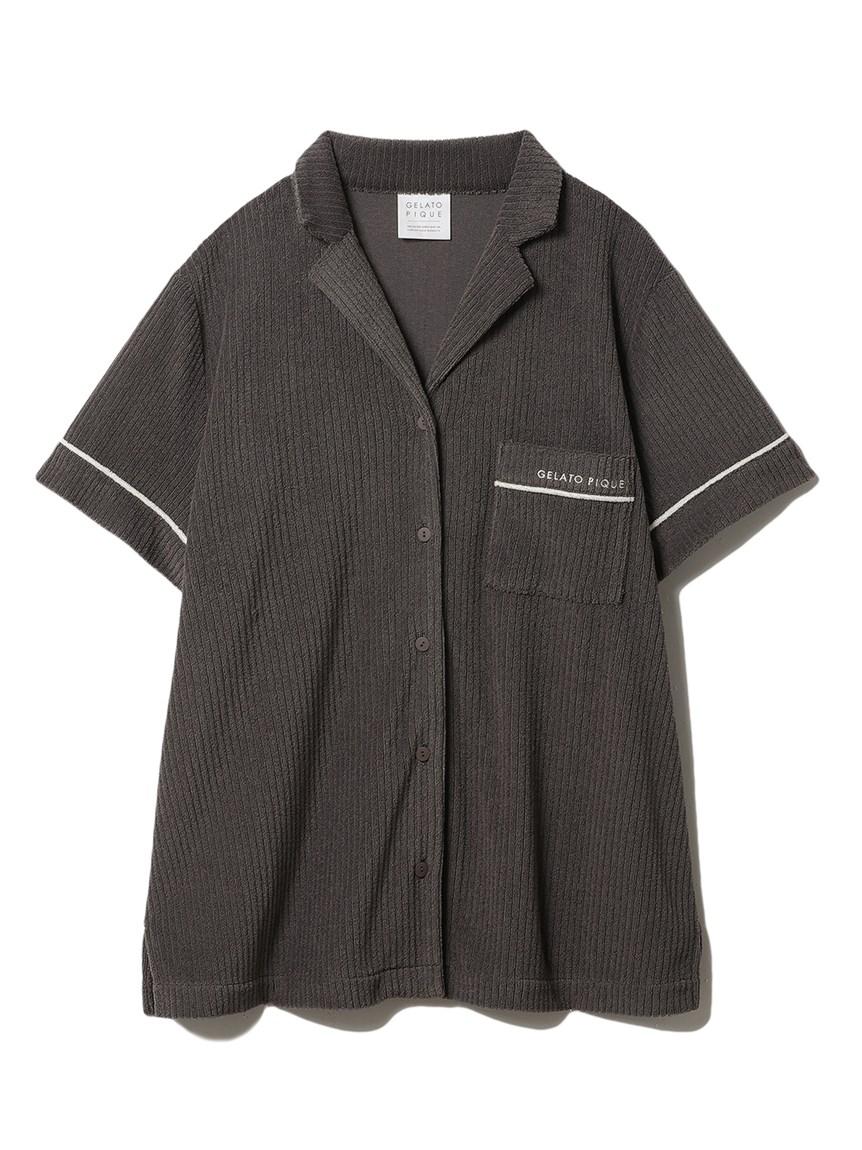 パイルリブ半袖シャツ(CGRY-F)