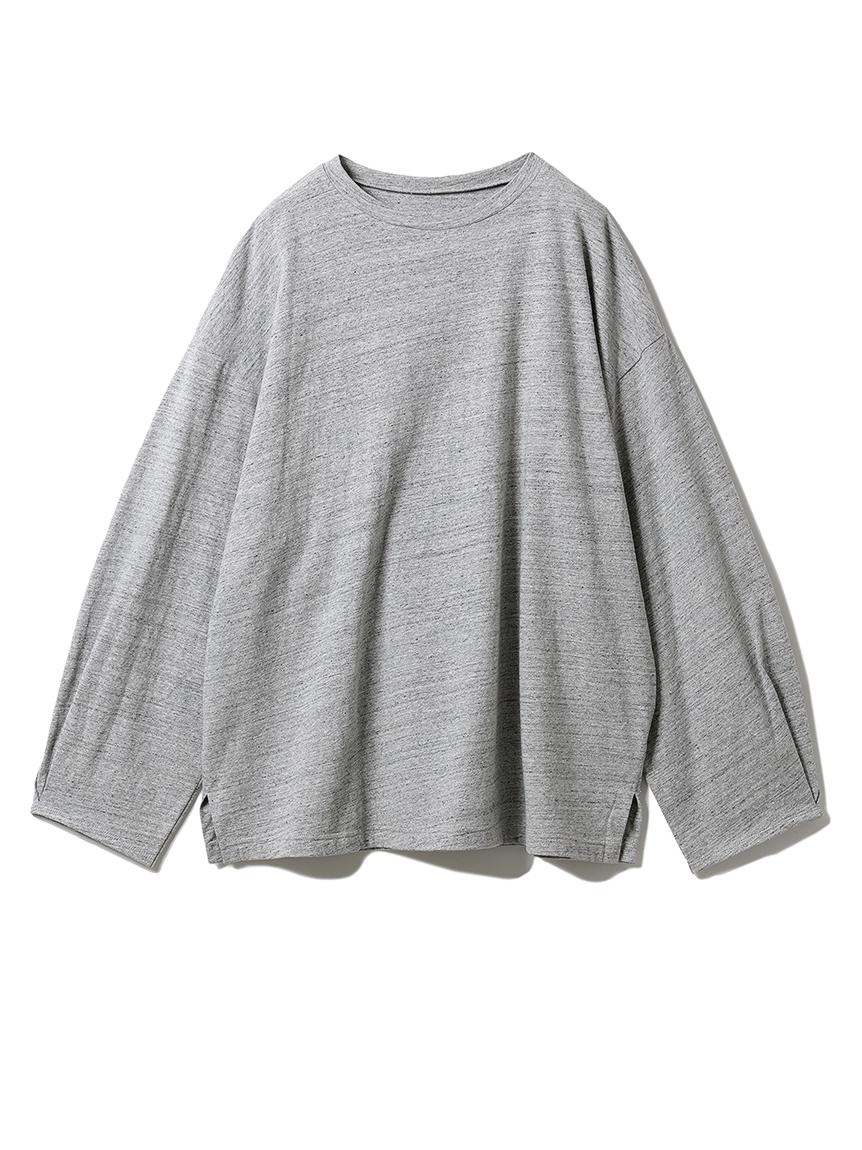 コットンロングTシャツ(GRY-F)