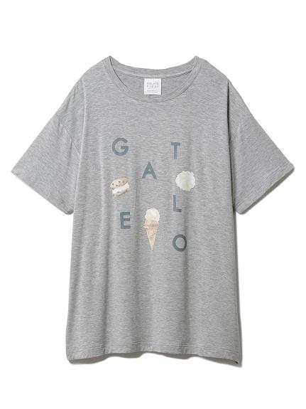 アイスロゴワンポイントTシャツ(GRY-F)