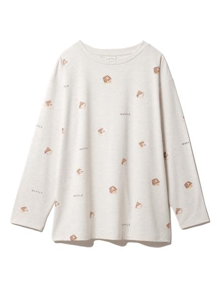 スイーツ3柄Tシャツ(OATMEAL-F)