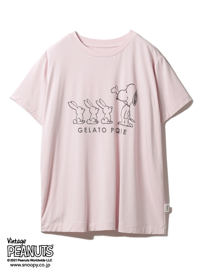【PEANUTS】プリントTシャツ(PNK-F)
