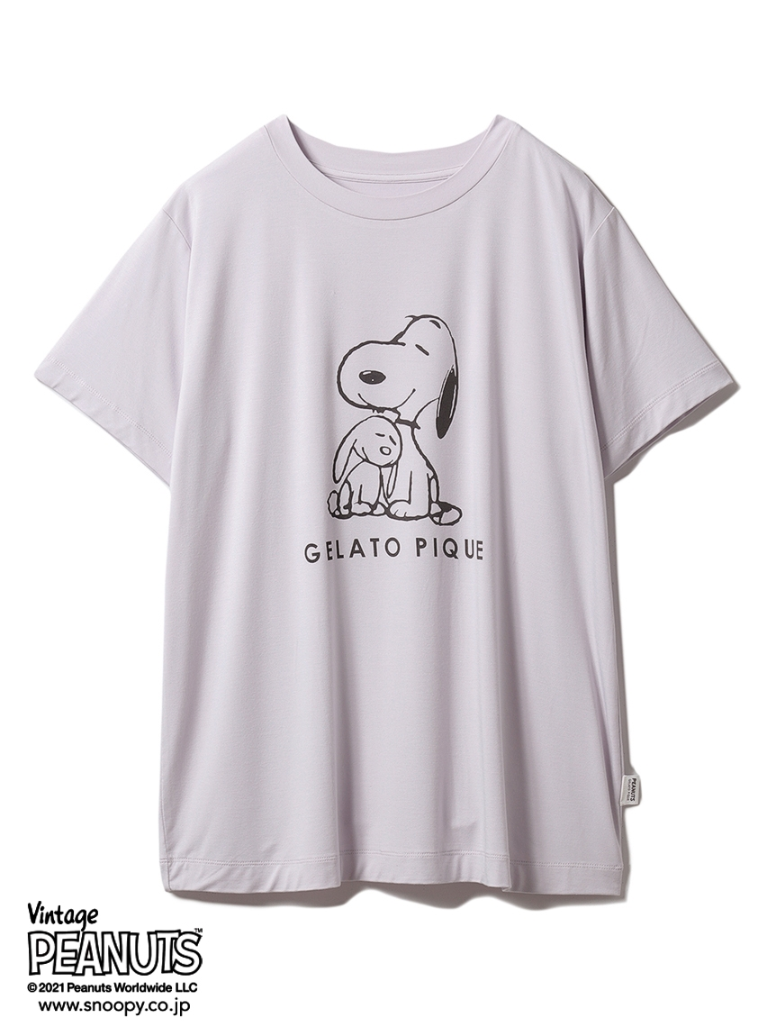 【PEANUTS】プリントTシャツ(LAV-F)