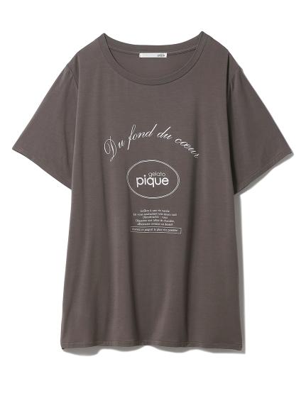 ピケロゴワンポイントTシャツ(GRY-F)