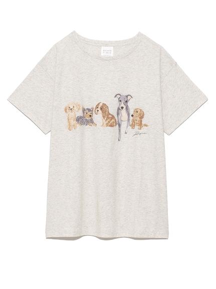 DOGワンポイントTシャツ(GRY-F)