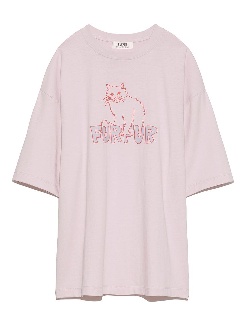 【FURFUR×gelato pique】アブストラクトTシャツ(PNK-F)