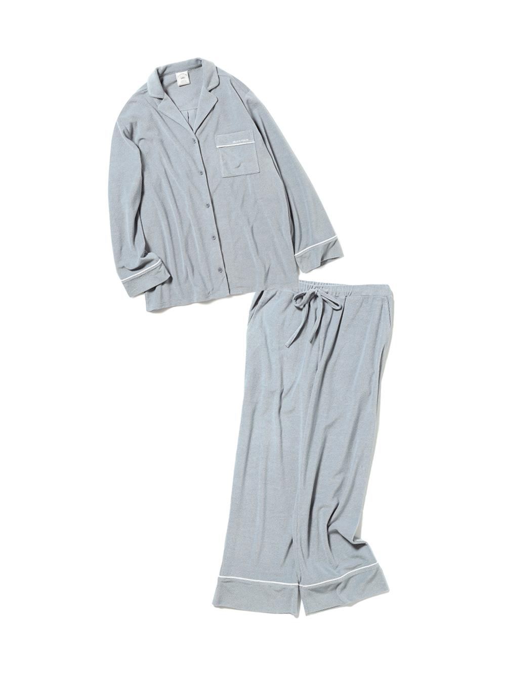 【ラッピング】パイルシャツ&ロングパンツSET(SKY-F)