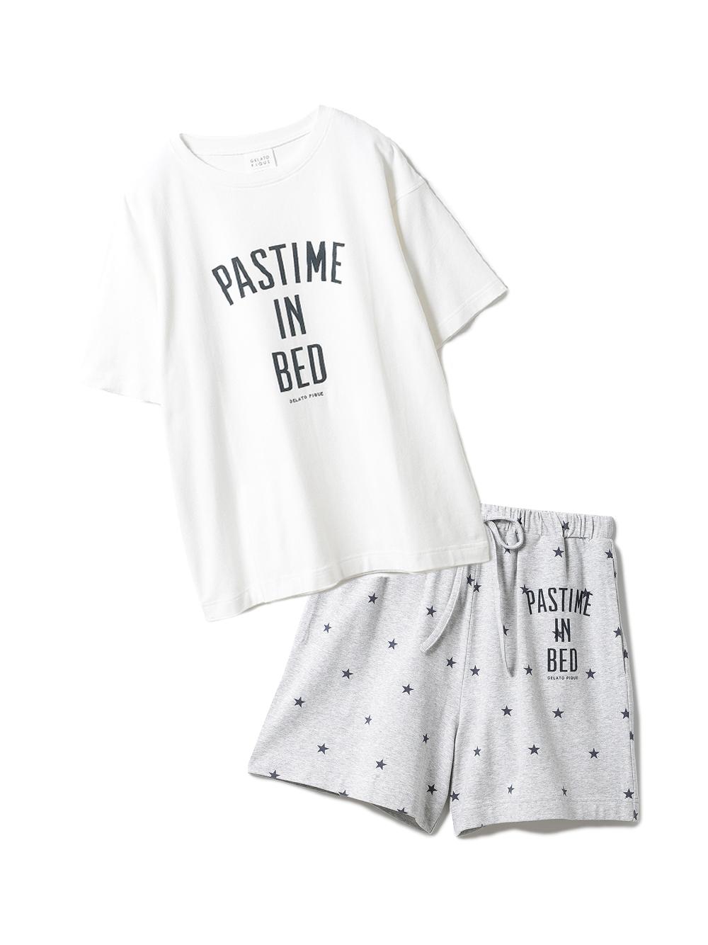 【ラッピング】ロゴスター柄ワンポイントTシャツ&ショートパンツSET(OWHT-F)