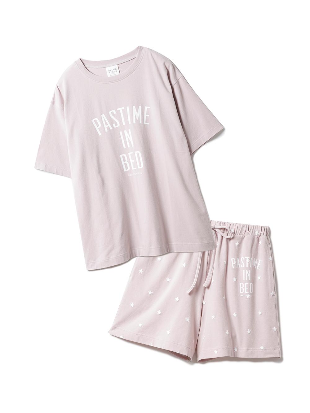 【ラッピング】ロゴスター柄ワンポイントTシャツ&ショートパンツSET(PNK-F)