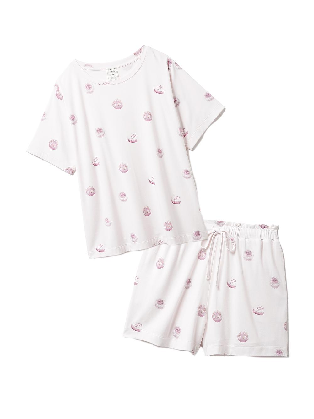 【ラッピング】ホールケーキ柄Tシャツ&ショートパンツSET(PNK-F)