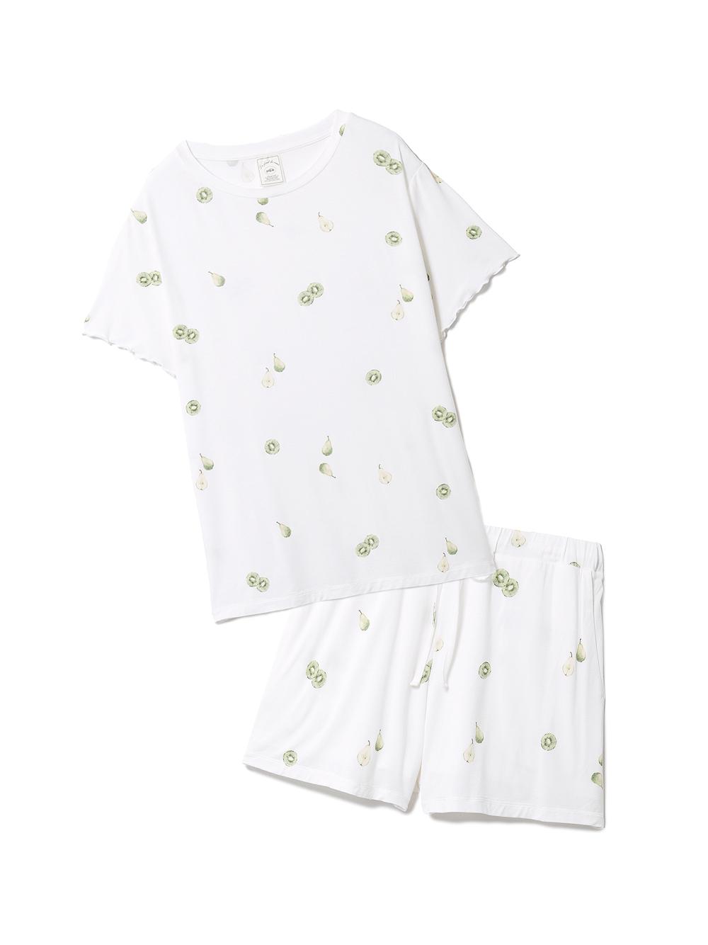 【ラッピング】フルーツ3柄Tシャツ&ショートパンツSET(OWHT-F)