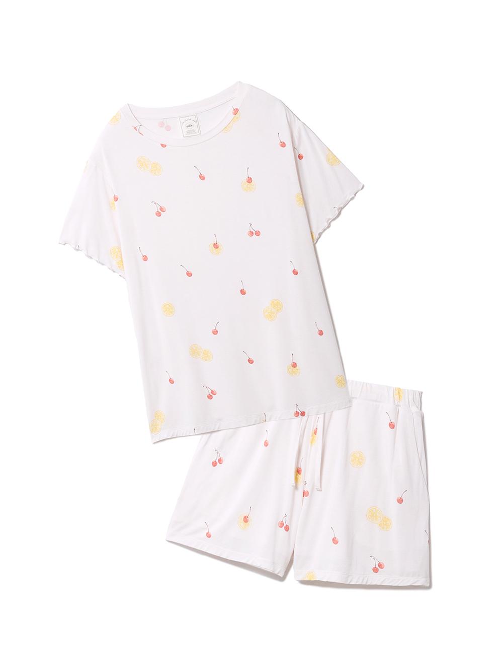 【ラッピング】フルーツ3柄Tシャツ&ショートパンツSET(PNK-F)