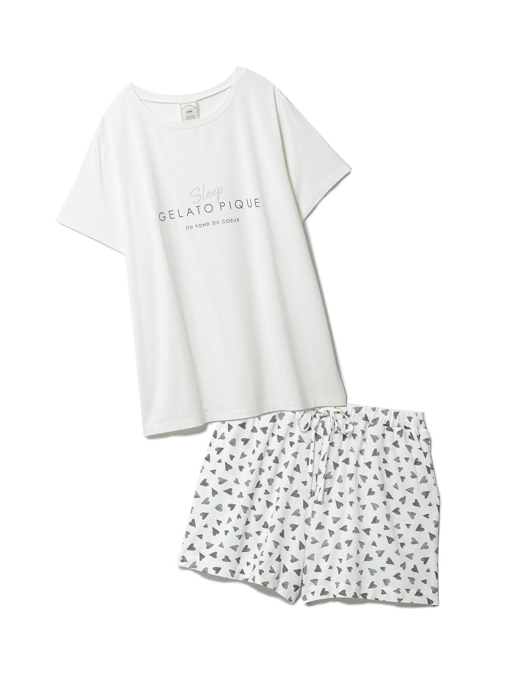 【ラッピング】カラーワンポイントTシャツ&ショートパンツSET(OWHT-F)