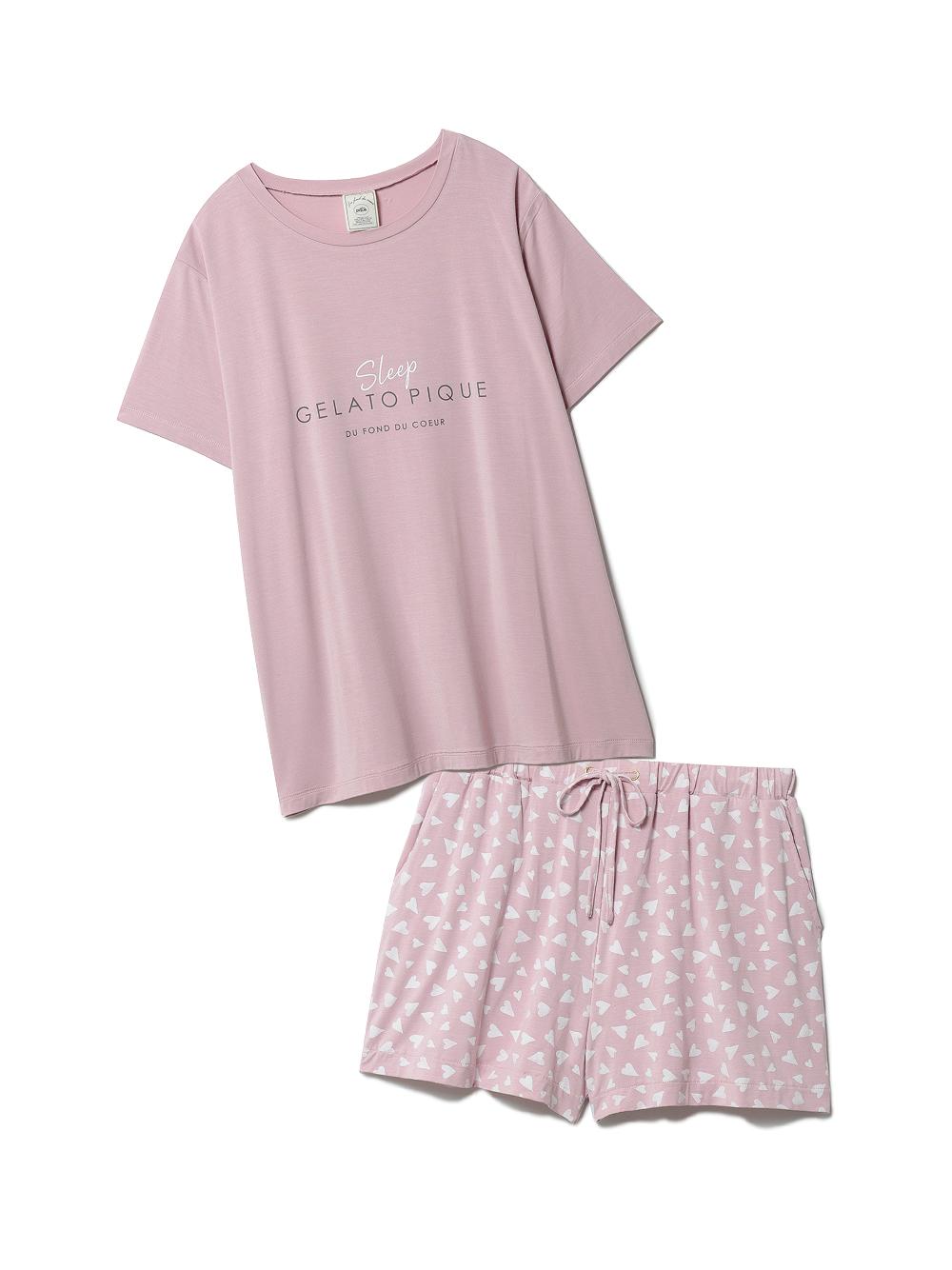【ラッピング】カラーワンポイントTシャツ&ショートパンツSET(PNK-F)