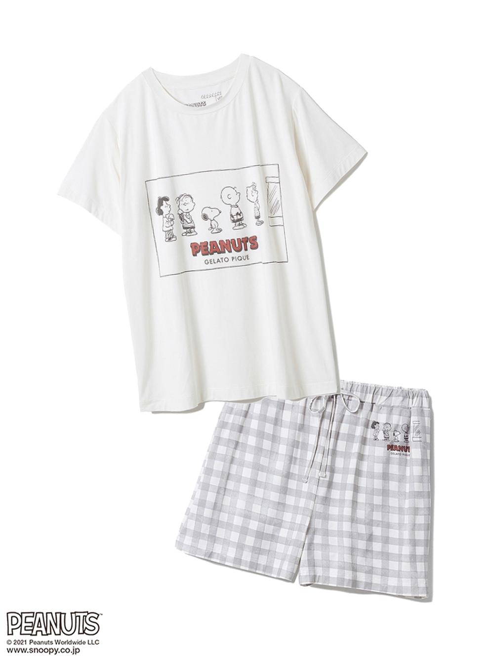 【ラッピング】【PEANUTS】ワンポイントTシャツ&ショートパンツSET