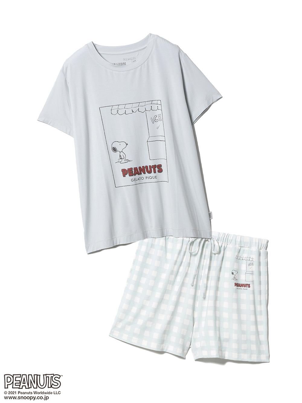 【ラッピング】【PEANUTS】ワンポイントTシャツ&ショートパンツSET(MNT-F)