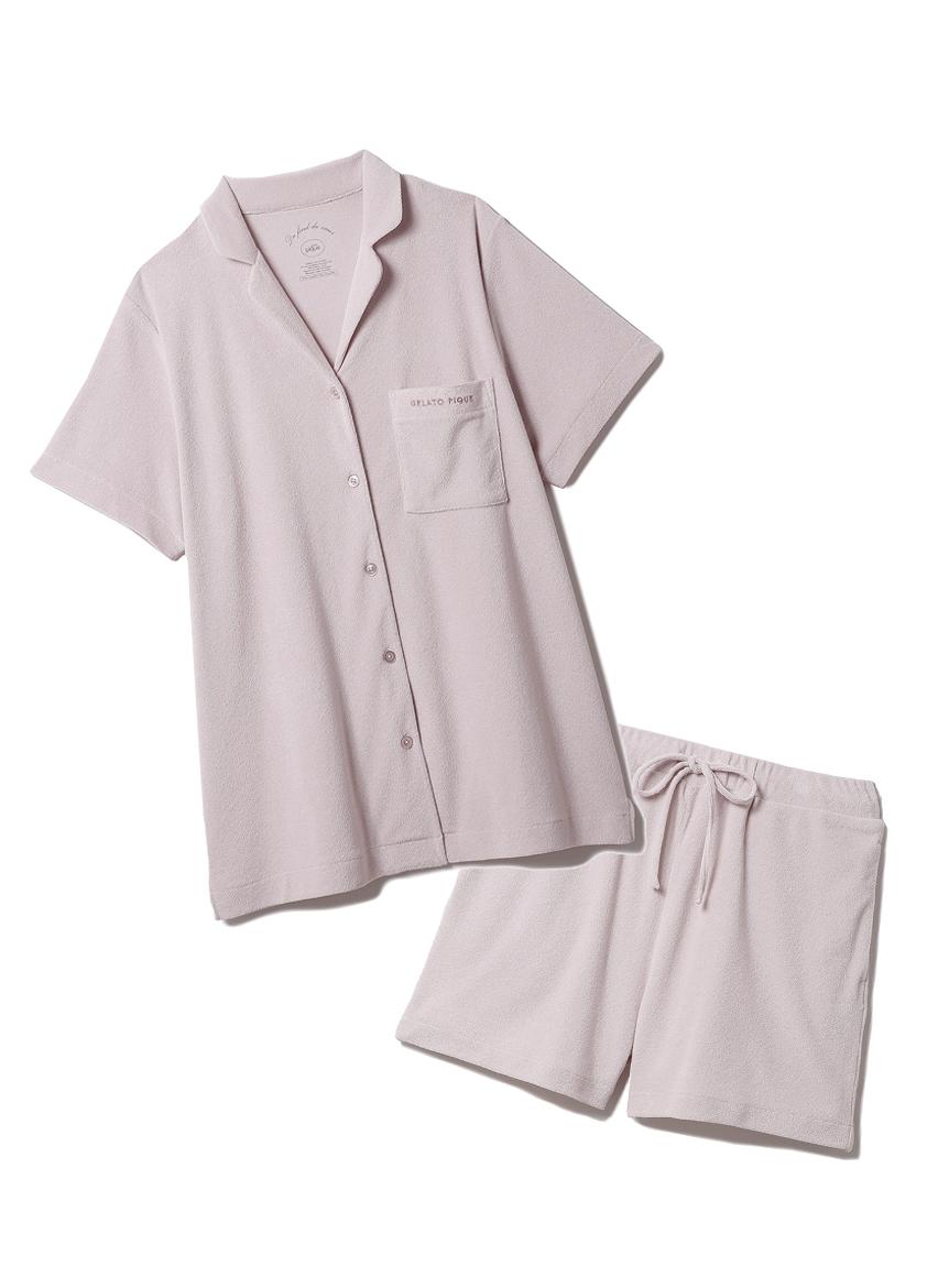 【ラッピング】パイル半袖シャツ&ショートパンツSET(PNK-F)