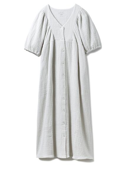 ガーゼマシュマロマタニティドレス