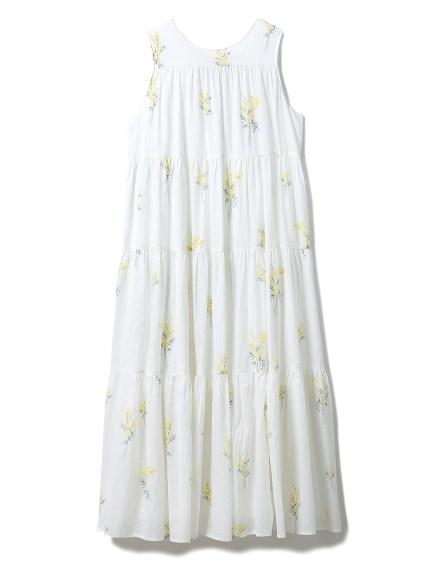 ミモザロングティアードドレス