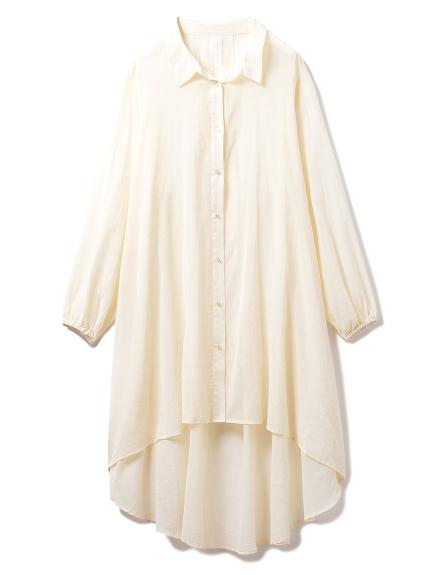 コットンシフォンシャツドレス(OWHT-F)