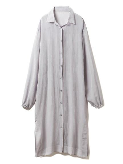 シフォンシャツドレス