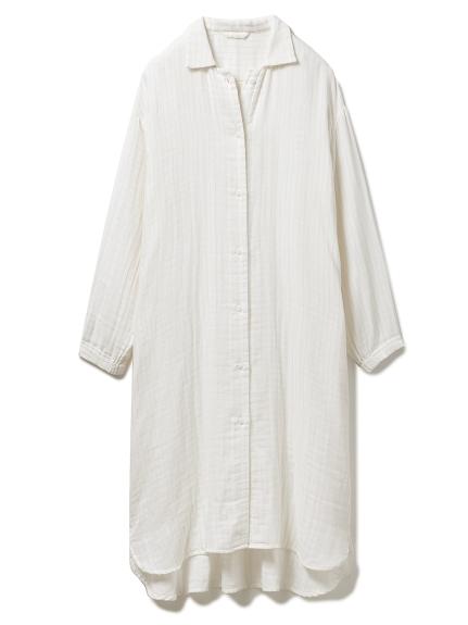ガーゼシャツドレス