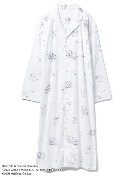 【CASPER】ネルシャツドレス(OWHT-F)