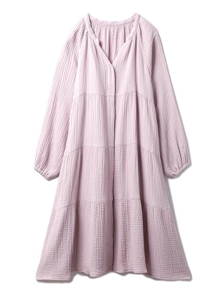 【ONLINE限定】トリプルガーゼマタニティティアードドレス