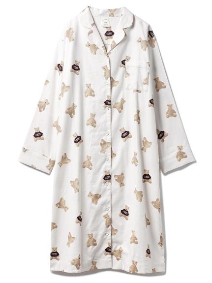 ベアネルシャツドレス
