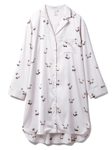 シャムネコサテンシャツドレス(PNK-F)