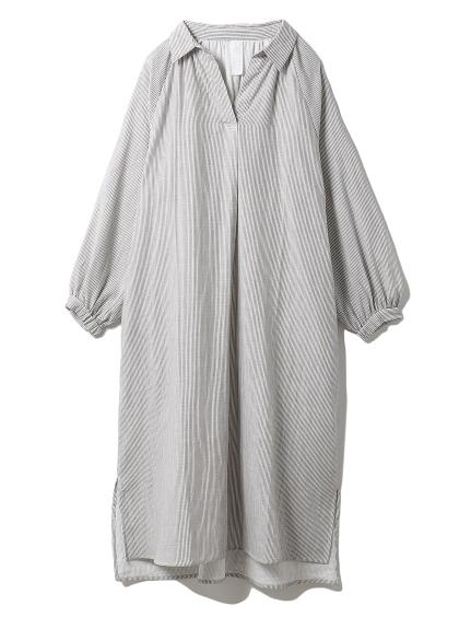 温泉ガーゼシャツドレス(GRY-F)