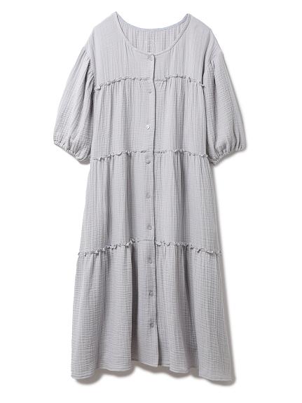 マタニティガーゼティアードドレス(BLU-F)