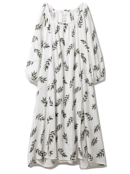 オリーブモチーフスリットドレス