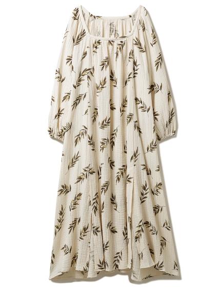 オリーブモチーフスリットドレス(BEG-F)