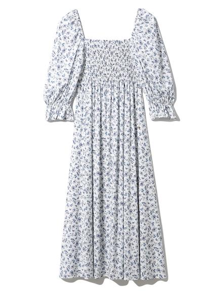リトルフラワーロングドレス(BLU-F)