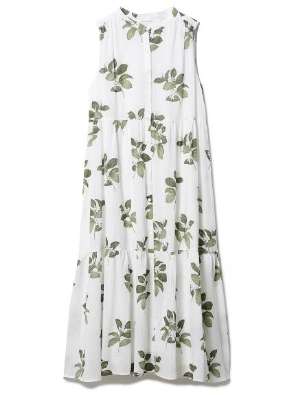 ジャスミンモチーフノースリーブドレス
