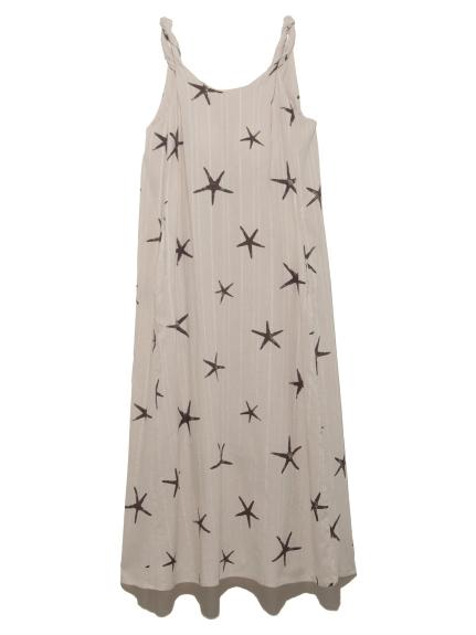 スターフィッシュモチーフスリーブレスドレス
