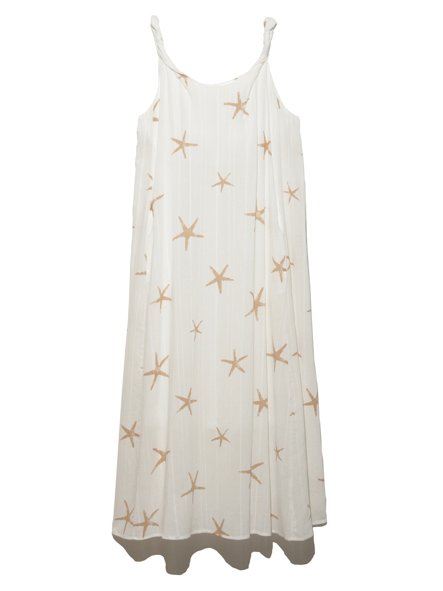スターフィッシュモチーフスリーブレスドレス(OWHT-F)