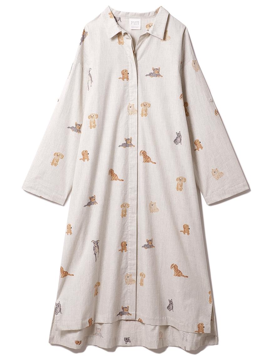 DOGモチーフドレス(GRY-F)