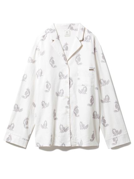 キャットプリントシャツ(OWHT-F)