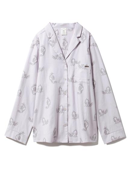 キャットプリントシャツ(GRY-F)