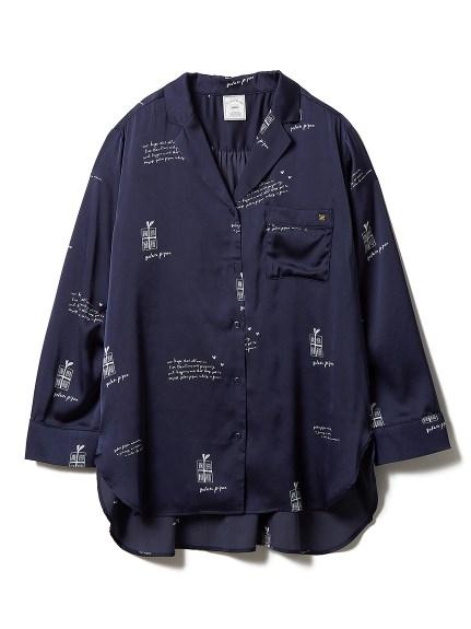 サテンシャツ(NVY-F)