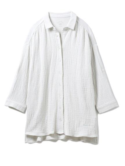 ガーゼマシュマロマタニティシャツ