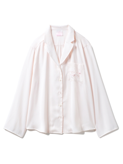 【SAKURA】フラワーサテンシャツ