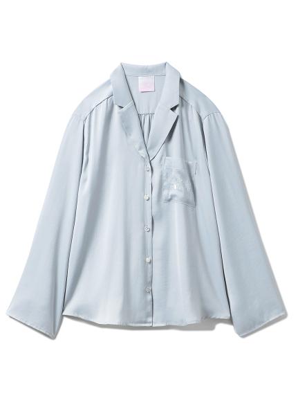 【SAKURA】フラワーサテンシャツ(MNT-F)