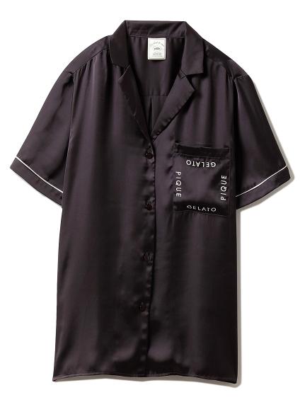 ロゴサテンシャツ