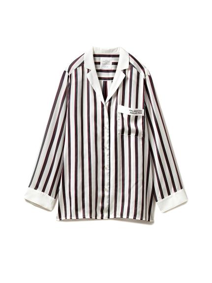 【Joel Robuchon & gelato pique】ストライプサテンシャツ